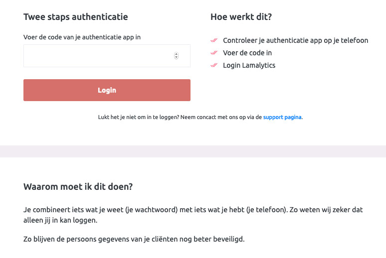 2 staps authenticatie